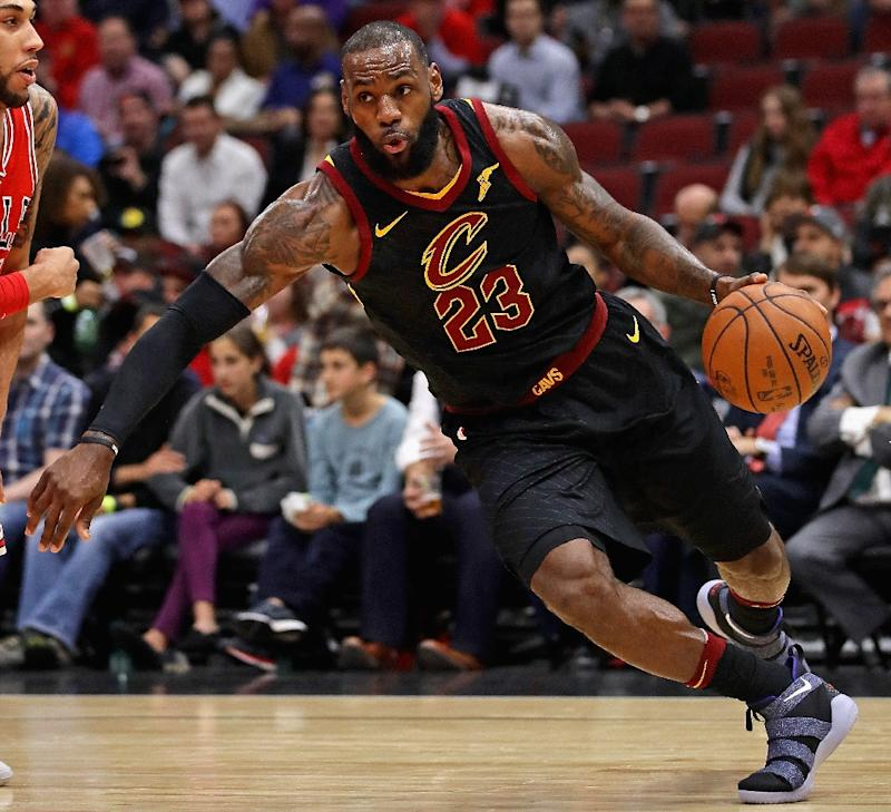 Lebron James Of The Cleveland Cavaliers Scored  Points Pulled Down  Rebounds And Handed