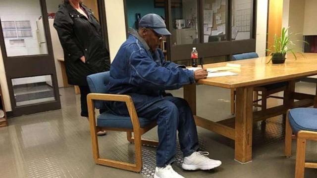 O.J. Simpson released from prison after serving 9 years for Vegas robbery. (ABC News)