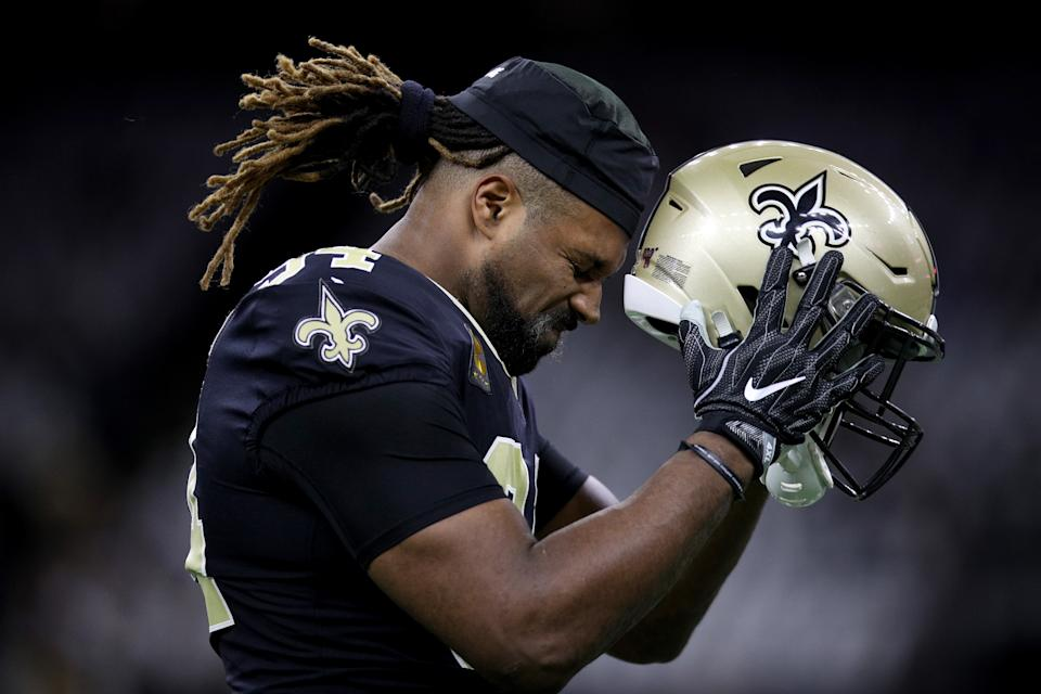 Cameron Jordan costs the New Orleans Saints with a boneheaded play. (Chris Graythen/Getty Images)