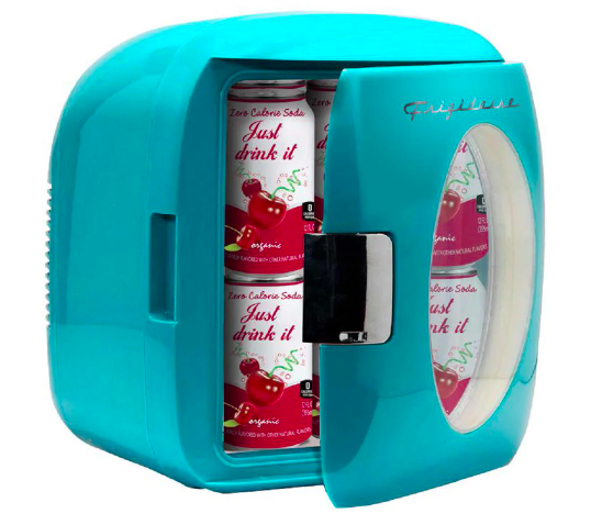 """<h2>12 Can Mini Retro Beverage Cooler in Turquoise</h2><br>""""Moving from an apartment to a house comes with a lot of adjustments, including realizing that you now have to haul things up and down the stairs pretty regularly. That's why buying this mini-fridge — which is so small it fits right into my nightstand! — turned out to be such a good decision. I keep bottled coffee, <a href=""""https://www.refinery29.com/en-us/spiked-hard-seltzer-brands"""" rel=""""nofollow noopener"""" target=""""_blank"""" data-ylk=""""slk:flavored seltzer"""" class=""""link rapid-noclick-resp"""">flavored seltzer</a>, and water in it, plus the occasional snack, and it holds about 12 cans or six regular-sized bottles. Being eight months pregnant, I don't necessarily want to make trips downstairs for water when I'm thirsty in the middle of the night (which is always), so it's great to have it right by the bed. Plus, just look how cute it is."""" <em>— Natalie Gontcharova, Senior Politics Editor</em><br><br><strong>Frigidaire</strong> Frigidaire Mini Fridge In Turquoise, $, available at <a href=""""https://go.skimresources.com/?id=30283X879131&url=https%3A%2F%2Fwww.homedepot.com%2Fp%2FFrigidaire-12-Can-Mini-Retro-Beverage-Cooler-in-Turquoise-EFMIS462-BLUE%2F305847539"""" rel=""""nofollow noopener"""" target=""""_blank"""" data-ylk=""""slk:Home Depot"""" class=""""link rapid-noclick-resp"""">Home Depot</a>"""