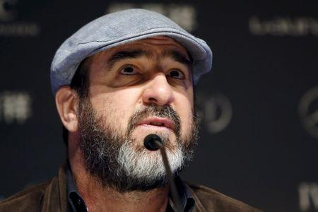 French actor and former soccer player Eric Cantona attends a news conference ahead of the Laureus World Sports Awards ceremony in Shanghai