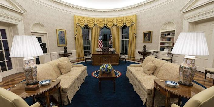 President Biden's Oval Office Decor
