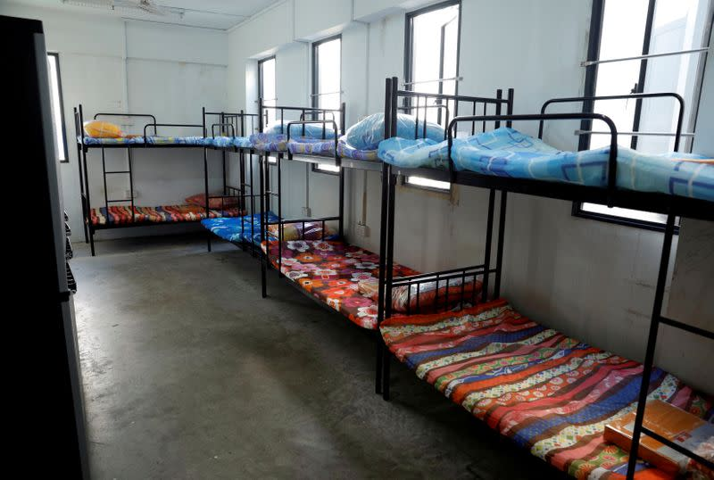 FILE PHOTO: View of a dormitory room for migrant workers who have recovered from the coronavirus disease (COVID-19), amid the outbreak in Singapore