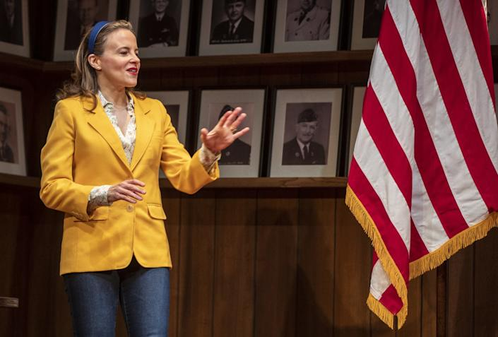 """Maria Dizzia in """"What the Constitution Means to Me"""" at the Mark Taper Forum"""