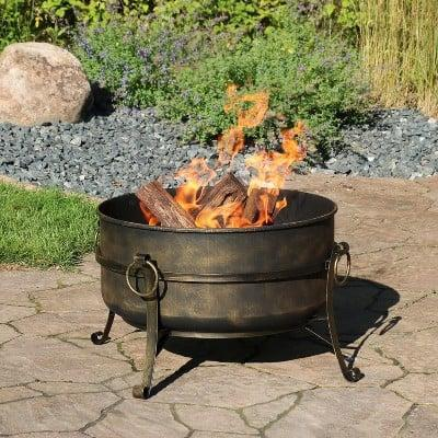 <p>This <span>Cauldron Steel Wood Burning Fire Pit</span> ($145, originally $174) will give your backyard an exceptionally rustic feel.</p>
