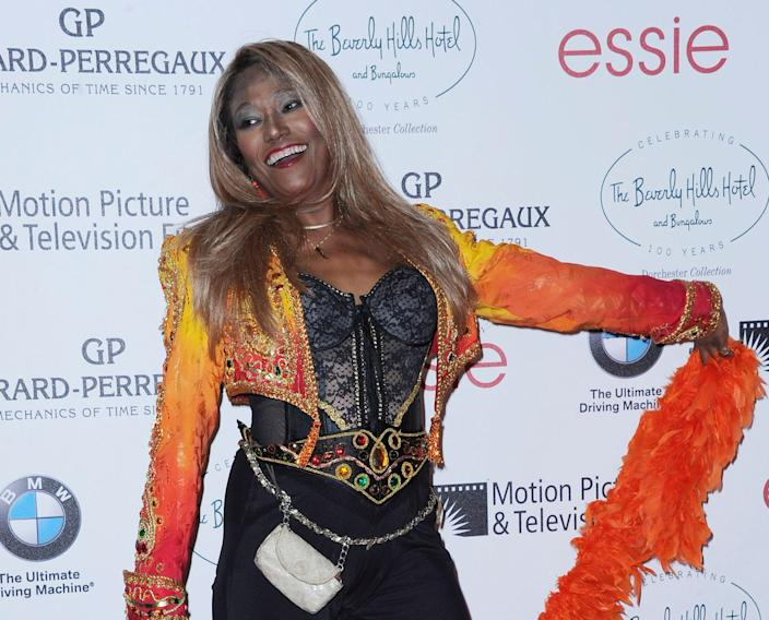 In this June 16, 2012 file photo, Bonnie Pointer attends the 100th Anniversary of The Beverly Hills Hotel in Beverly Hills, Calif. Pointer, founding member of the Pointer Sisters, has died. Publicist Roger Neal says Pointer died of cardiac arrest in Los Angeles on Monday. She was 69.