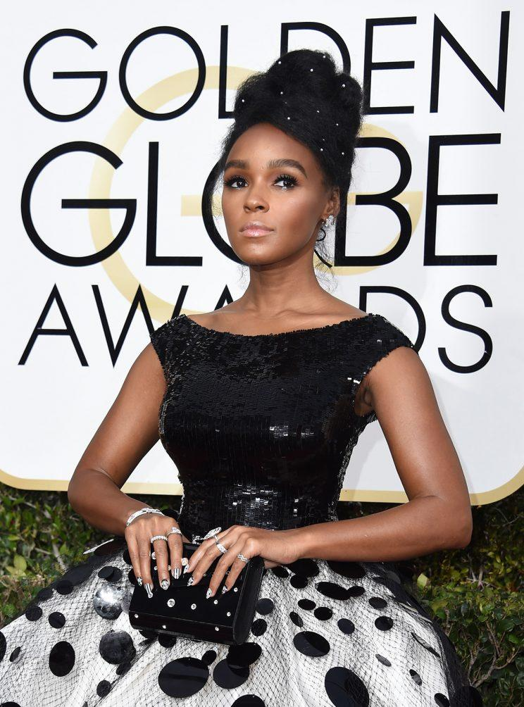 Janelle Monáe attends the 74th Golden Globe Awards. (Photo: Getty Images)