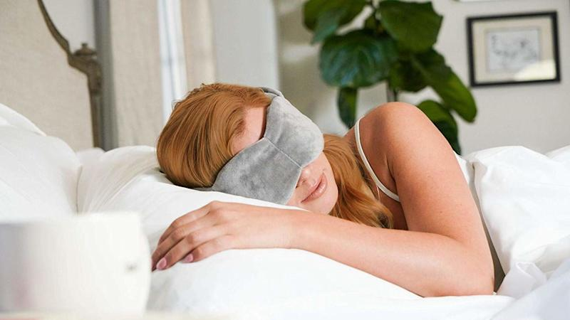 Get the sleep you deserve with this weighted sleep mask. (Photo: NodPod)