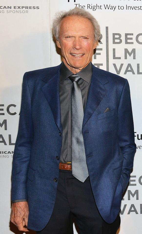 NEW YORK, NY - APRIL 27:  Actor/director Clint Eastwood attends the 'Tribeca Talks - Directors Series: Clint Eastwood with Darren Aronofsky' during the 2013 Tribeca Film Festival on April 27, 2013 in New York City.  (Photo by Slaven Vlasic/Getty Images)