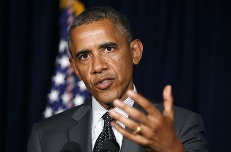 Obama speaks after his meeting with Perry in Dallas