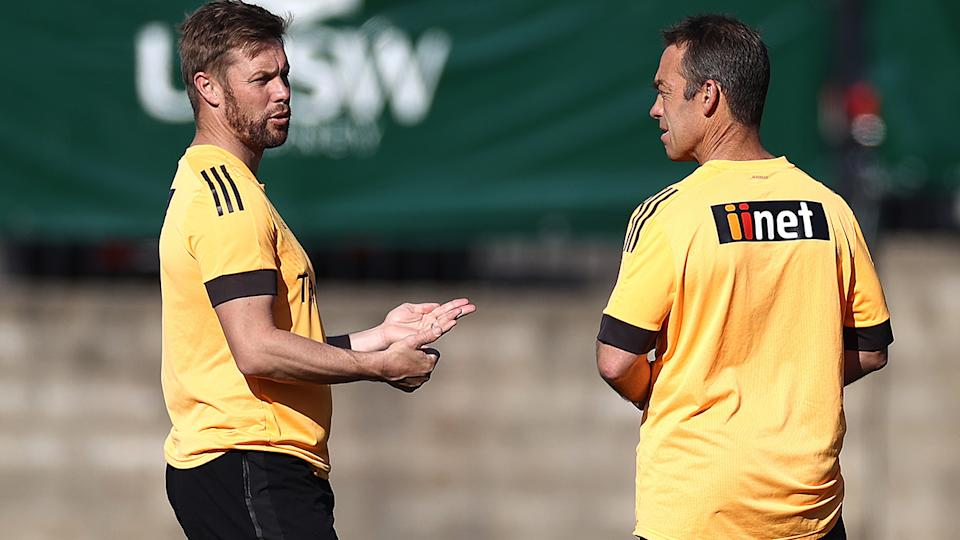 Former Hawthorn star turned assistant coach Sam Mitchell will take over as head coach in 2022, with Alastair Clarkson to relinquish the role. (Photo by Ryan Pierse/Getty Images)