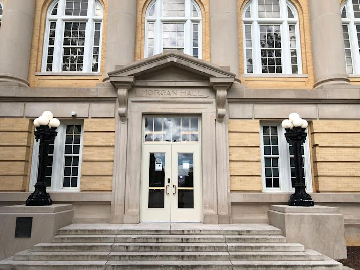 Trustees voted unanimously to rename Morgan Hall, named for U.S. Sen. John Tyler Morgan in 1910, to the English Building for the time being at the University of Alabama. Morgan was a Confederate general and white supremacist.
