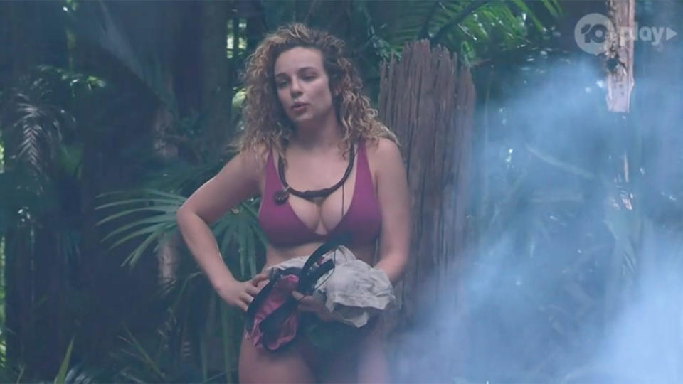 Abie Chatfield in a bikini on last night's episode of I'm A Celebrity Get Me Out Here.