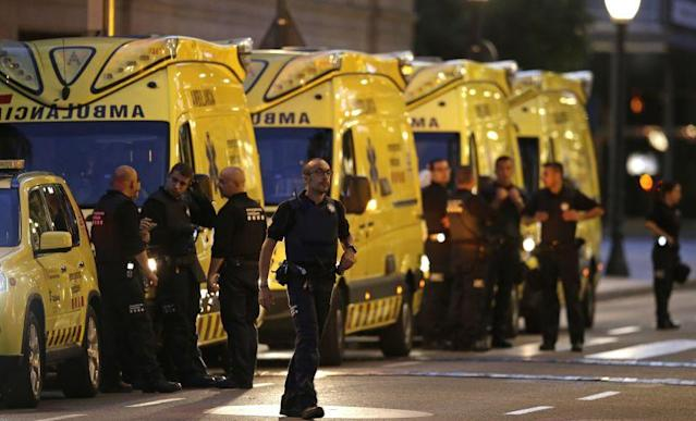 <p>A van veered onto a promenade Thursday and barreled down the busy walkway in central Barcelona, swerving back and forth as it mowed pedestrians down and turned a picturesque tourist destination into a bloody killing zone. </p>