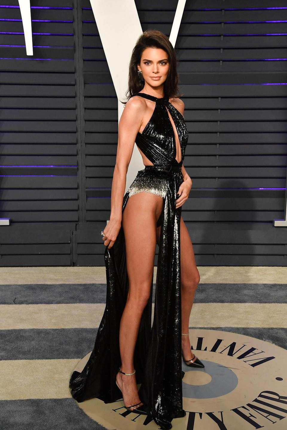 Kendall Jenner Wears Revealing Dress To Oscars After Party