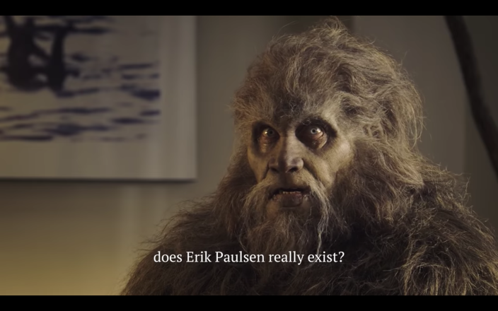 A screengrab from Dean Phillips's campaign ad attacking opponent Erik Paulsen.