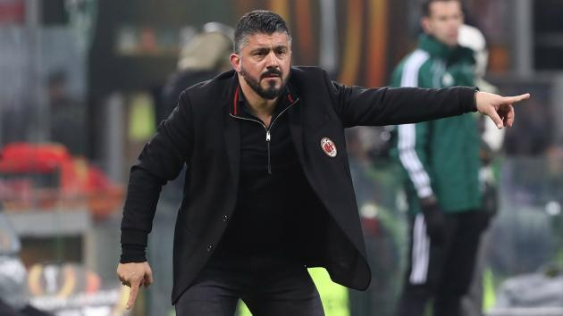 <p>Gattuso hopes to continue as AC Milan boss</p>