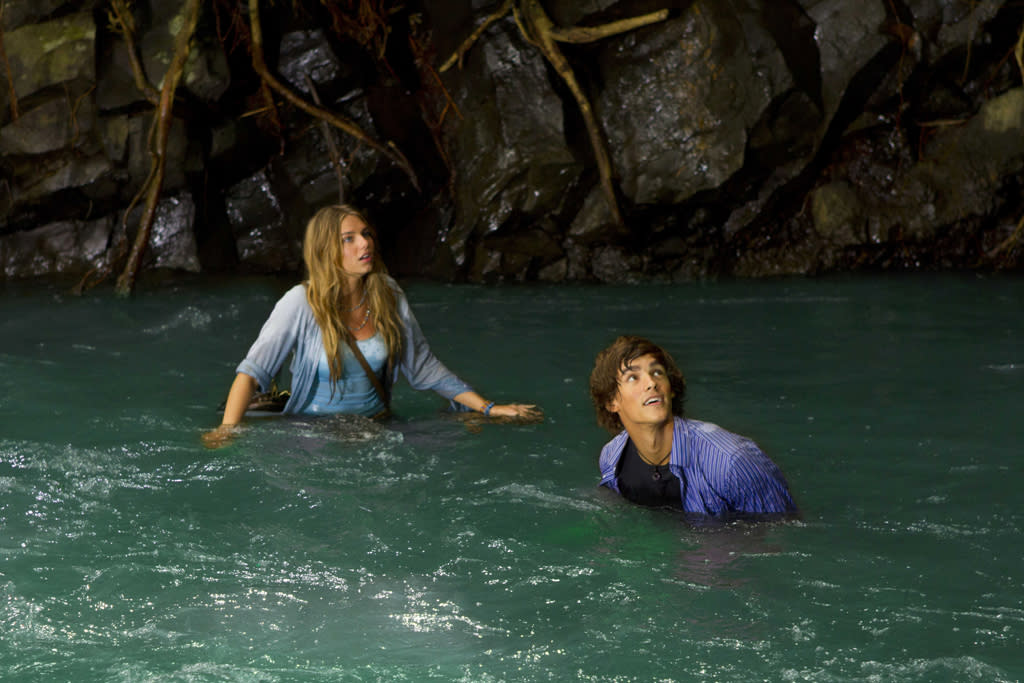 "Indiana Evans (""Emma"") and Brenton Thwaites (""Dean"") star in the all-new Lifetime Original Movie, ""Blue Lagoon: The Awakening."""