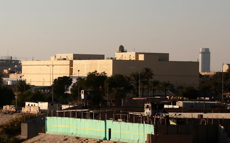 The building of US embassy compund are seen in the heavily fortified Green Zone in central Baghdad - REX