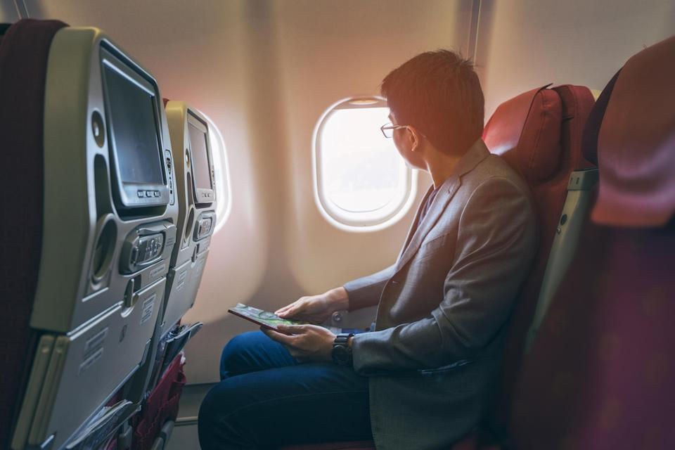 There's a really good reason why you have to open your plane window during takeoff and landing. Source: Getty/file