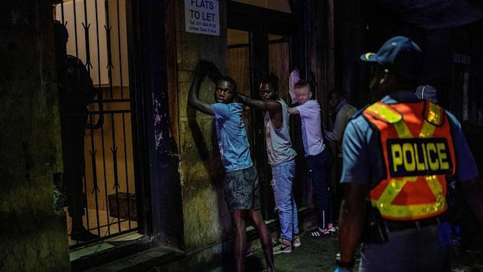 Police in Johannesburg had already made arrests in the early hours of Friday