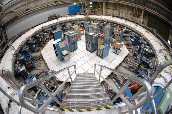 The Muon g-2 storage ring, in its current location at Brookhaven National Laboratory in New York.