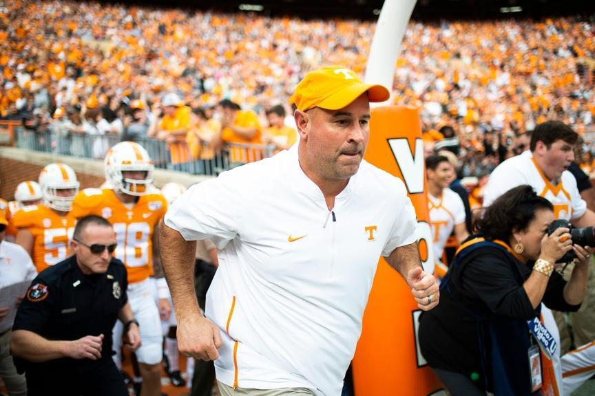 Jeremy Pruitt with Tennessee