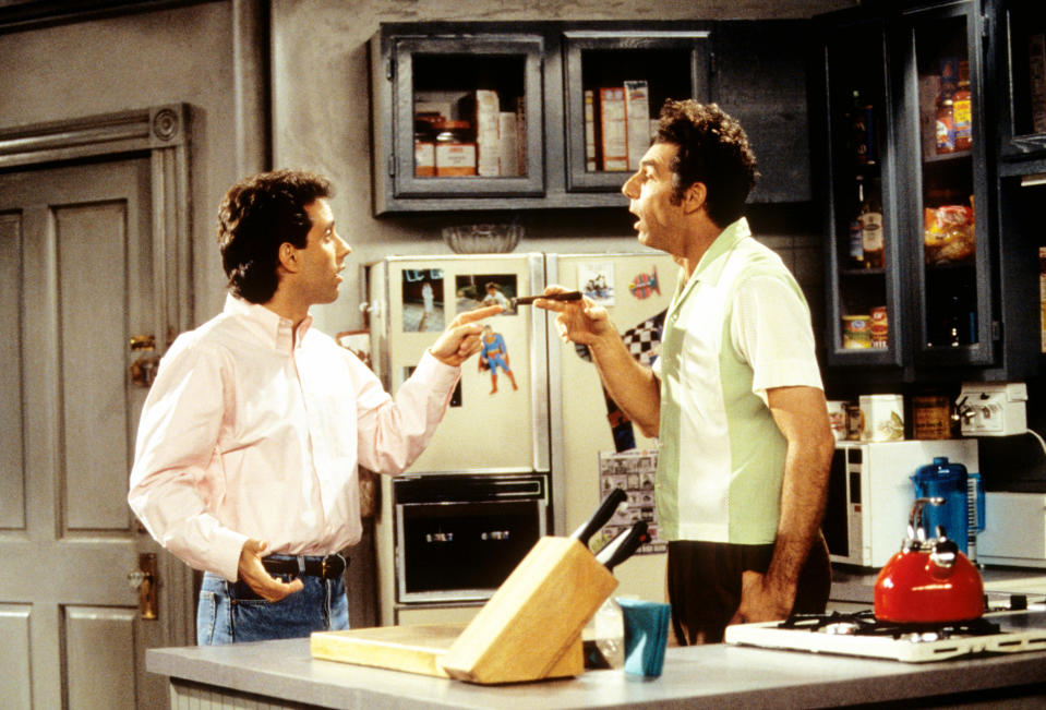 "Jerry Seinfeld, left, and Michael Richards were two of the ""Seinfeld"" four. (Photo: Castle Rock Entertainment/Courtesy: Everett Collection)"