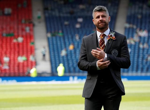 Soccer Football - Scottish Cup Final - Celtic vs Motherwell - Hampden Park, Glasgow, Britain - May 19, 2018 Motherwell manager Stephen Robinson before the match REUTERS/Russell Cheyne