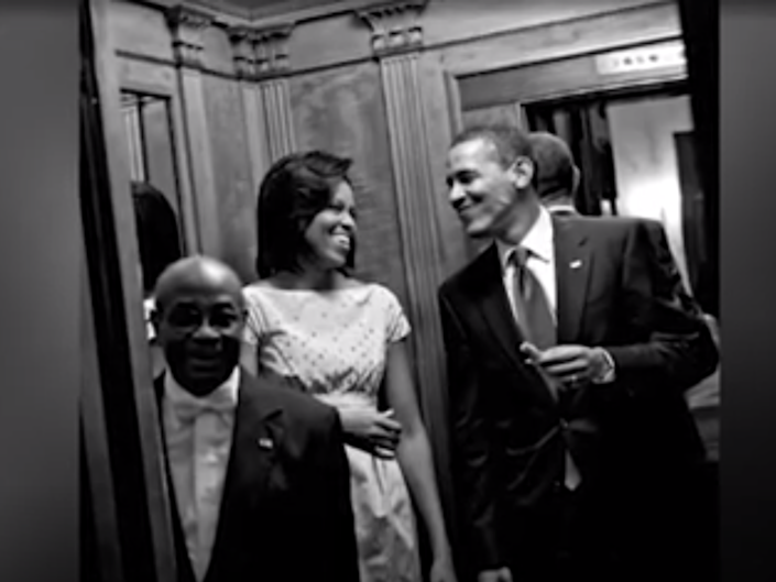 Wilson Roosevelt Jerman with former president and first lady Barack and Michelle Obama: Fox News