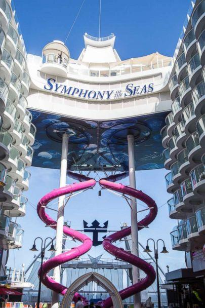 PHOTO: The Ultimate Abyss slide on the Symphony of the Seas cruise is 10-stories high, marking it one of the most adventurous activities on the ship. (Royal Caribbean)