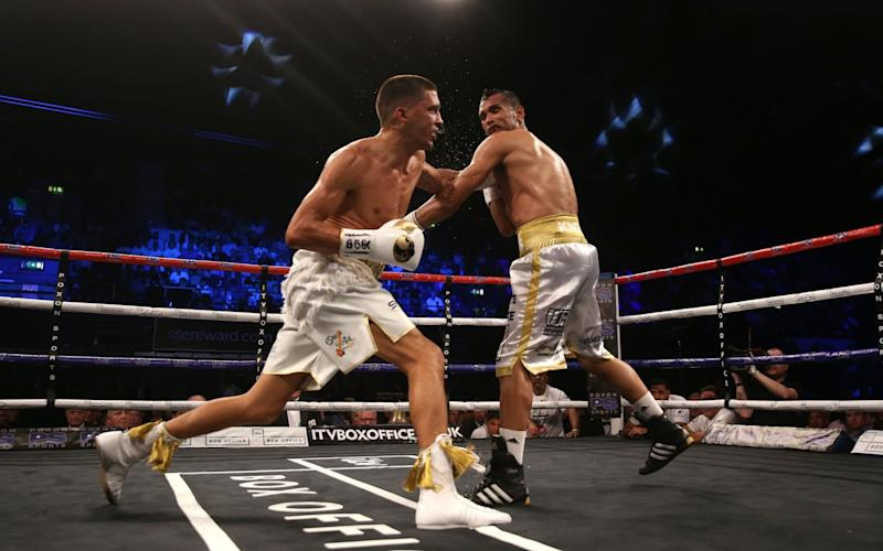 Lee Selby (left) in action against Jonathan Victor Barros - Credit: PA