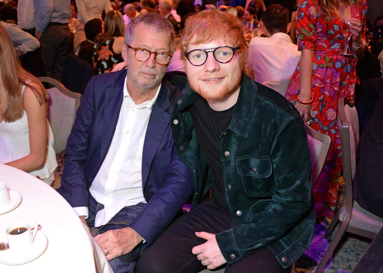 Ed Sheeran's favourite guitar is one given to him by Eric Clapton. (Photo by David M. Benett/Dave Benett/Getty Images)