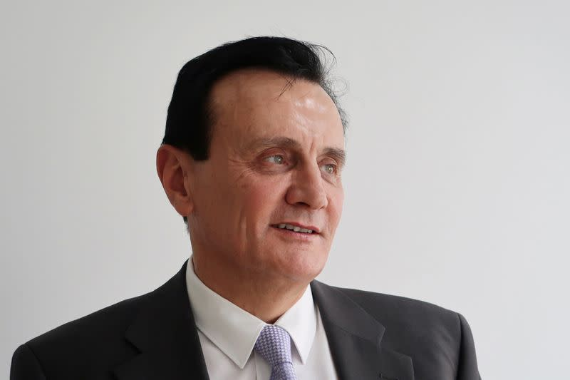 FILE PHOTO: Pascal Soriot, chief executive officer of pharmaceutical company AstraZeneca, attends an interview with Reuters in Shanghai