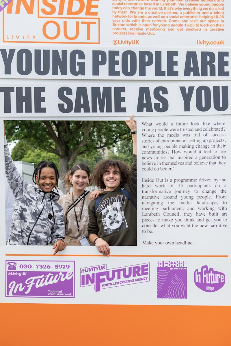 This newspaper was a project that young people working with Livity came up with so they could have an opportunity to create their own headlines. (Livity)