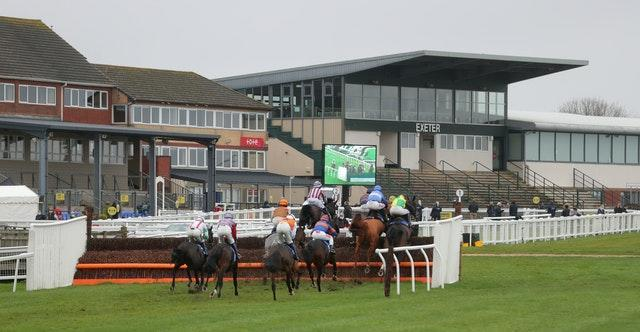 Exeter is one of few racecourses fans are permitted to attend
