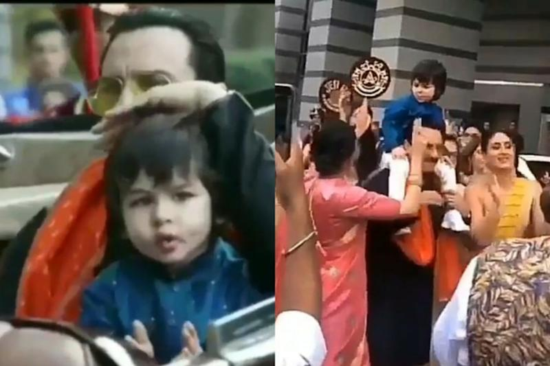 This Clip Of Taimur Ali Khan With His Dad Is Taking Over Internet