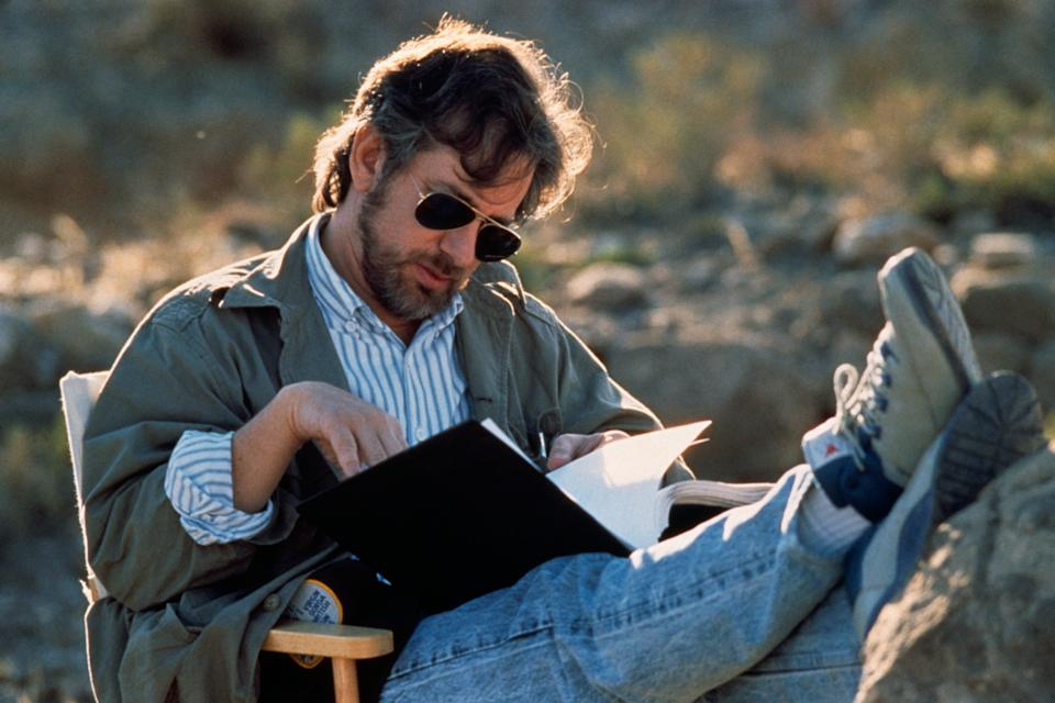 Director Steven Spielberg on the set of his film Indiana Jones and the Last Crusade. (Photo by Murray Close/Sygma/Sygma via Getty Images)