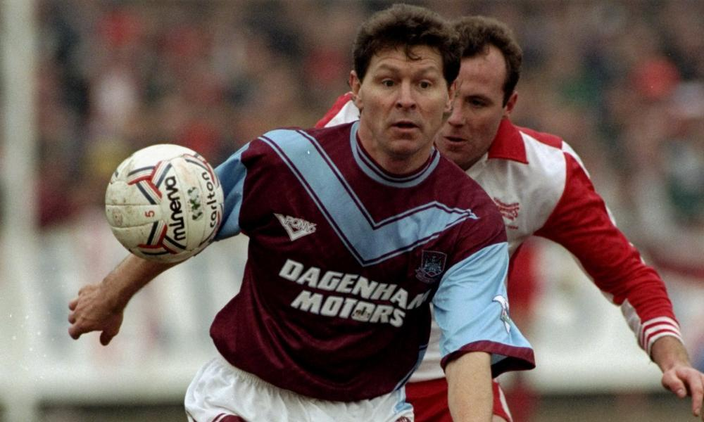 Clive Allen at West Ham in 1994 during his London odyssey.