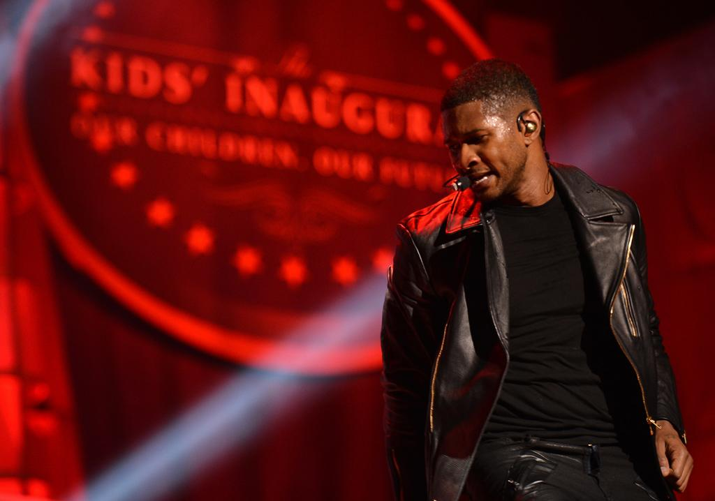 Washington, DC - January 19: Singer Usher perfumes for the Kids Inaugural celebrationa and concert on January, 19, 2013 in Washington, DC. (Photo by Bill O'Leary/The Washington Post)