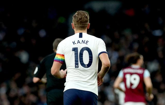Captains in the Premier League wore rainbow armbands this week as part of the Rainbow Laces campaign (Jonathan Brady/PA)