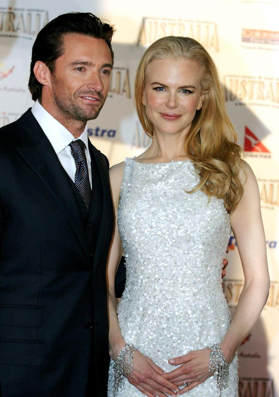 "<p>Aussie actors Nicole Kidman and Hugh Jackman's turn in Baz Luhrmann's epic <em>Australia</em> required a lot of on-screen passion. While the two ended up getting things right eventually, it took some preparation. ""It's never particularly comfortable making out with someone in front of 70 people,"" <a href=""http://www.oprah.com/oprahshow/the-stars-of-australia_1"" rel=""nofollow noopener"" target=""_blank"" data-ylk=""slk:Jackman said."" class=""link rapid-noclick-resp"">Jackman said. </a>""That's really not something that turns me on.""</p>"