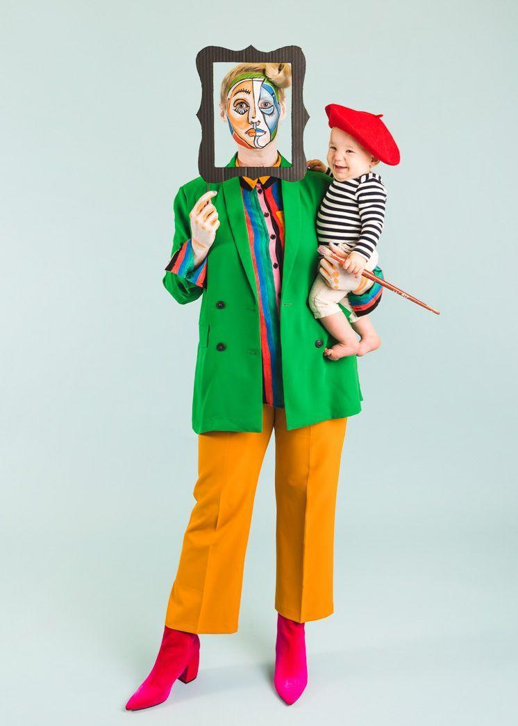 """<p>If you're looking for a """"Mommy & Me"""" look, especially if you have a baby, turn your infant into Picasso and make yourself a work of art.</p><p><em><a href=""""https://thehousethatlarsbuilt.com/2018/10/picasso-and-painting-mommy-and-me-halloween-costume.html"""" rel=""""nofollow noopener"""" target=""""_blank"""" data-ylk=""""slk:See the tutorial at The House That Lars Built »"""" class=""""link rapid-noclick-resp"""">See the tutorial at The House That Lars Built »</a></em></p>"""