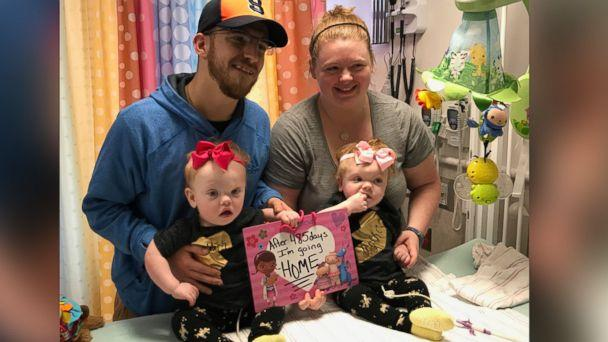 PHOTO: A pair of formerly conjoined twins are being discharged from the hospital just in time for Thanksgiving after a successful surgery to separate them. (Children's Hospital of Philadelphia)