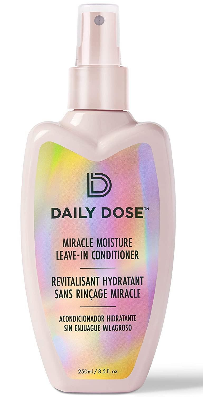 "<h2>Save On Select Daily Dose Haircare Products<br></h2><br>Enjoy $8 off Daily Dose's popular <a href=""https://amzn.to/3jL300W"" rel=""nofollow noopener"" target=""_blank"" data-ylk=""slk:detangling leave-in conditioner"" class=""link rapid-noclick-resp"">detangling leave-in conditioner</a> which makes hair manageable, eliminates frizz and flyaways, and adds moisture and shine. <br><br><strong>Daily Dose</strong> Miracle Moisture Leave-In Conditioner, $, available at <a href=""https://amzn.to/3ivJQuv"" rel=""nofollow noopener"" target=""_blank"" data-ylk=""slk:Amazon"" class=""link rapid-noclick-resp"">Amazon</a>"