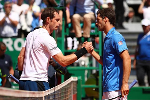 Progress | Andy Murray (left) feels he has improved in the past few weeks (Getty)