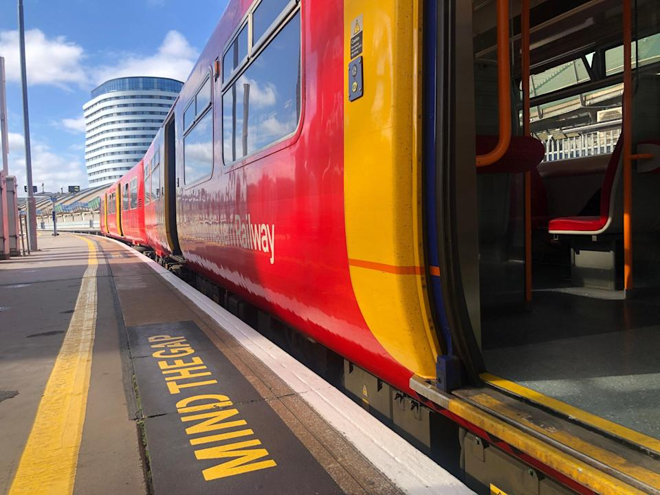 Funding gap: trains to and from London Waterloo have far fewer commuters than normal (Simon Calder)