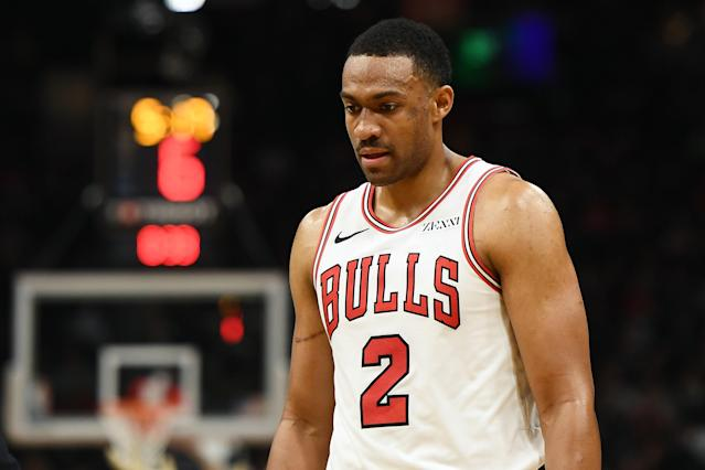 "<a class=""link rapid-noclick-resp"" href=""/nba/players/5293/"" data-ylk=""slk:Jabari Parker"">Jabari Parker</a> appears to have played his way out of the <a class=""link rapid-noclick-resp"" href=""/nba/teams/chi"" data-ylk=""slk:Bulls"">Bulls</a>' rotation. (Getty Images)"