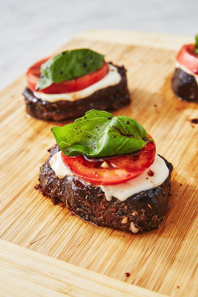 """<p>This dish boasts all of the flavors you love in a caprese salad ATOP a perfectly cooked steak.</p><p>Get the recipe from <a href=""""https://www.delish.com/cooking/recipe-ideas/recipes/a48615/caprese-steak-recipe/"""" rel=""""nofollow noopener"""" target=""""_blank"""" data-ylk=""""slk:Delish."""" class=""""link rapid-noclick-resp"""">Delish.</a></p>"""