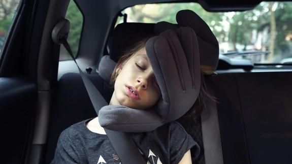 Hand shaped pillow MonPere is secret to